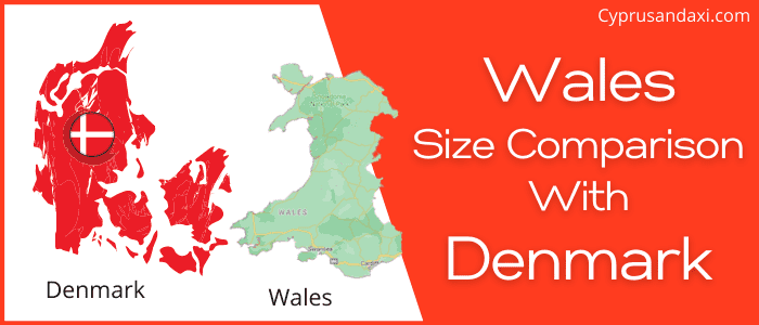 Is Wales bigger than Denmark