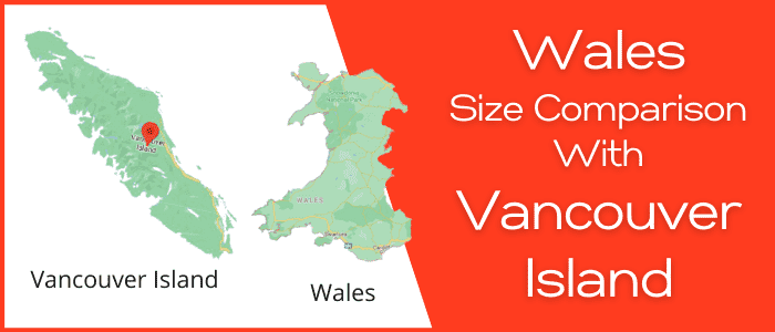 Is Wales bigger than the Vancouver Island