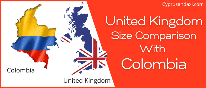 Is the UK bigger than Colombia
