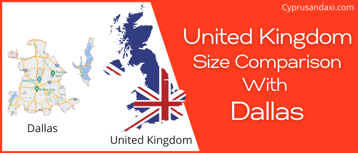 Is the UK bigger than Dallas
