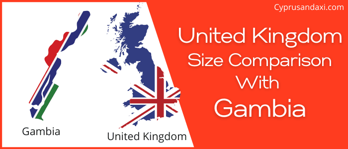 Is the UK bigger than Gambia