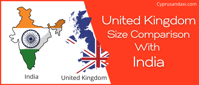 Is the UK bigger than India