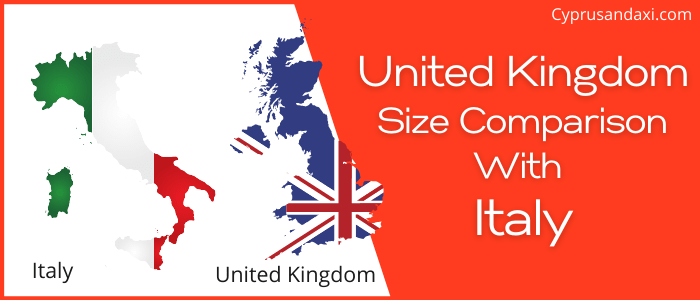 Is the UK bigger than Italy
