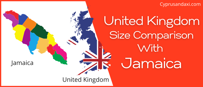 Is the UK bigger than Jamaica
