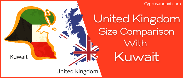 Is the UK bigger than Kuwait