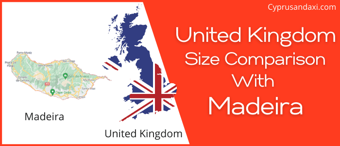 Is the UK bigger than Madeira