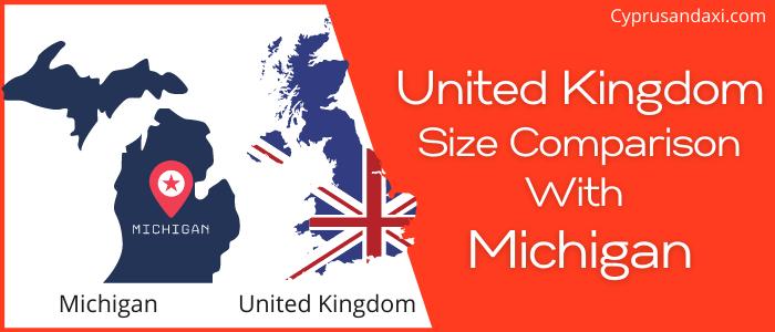 Is the UK bigger than Michigan