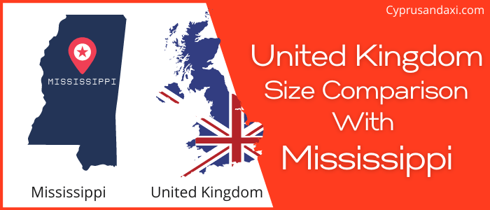 Is the UK bigger than Mississippi