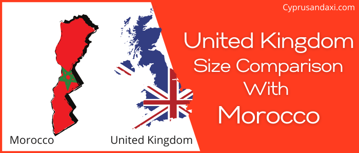 Is the UK bigger than Morocco