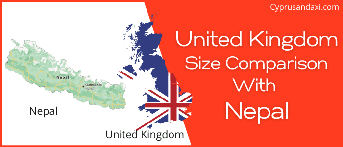 Is the UK bigger than Nepal