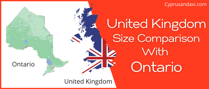 Is the UK bigger than Ontario
