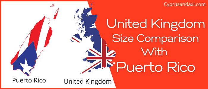 Is the UK bigger than Puerto Rico