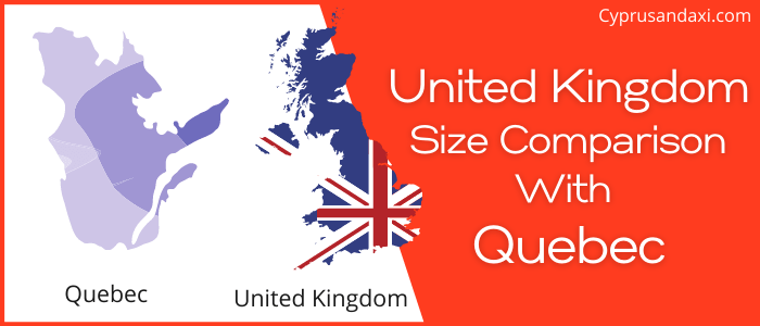 Is the UK bigger than Quebec