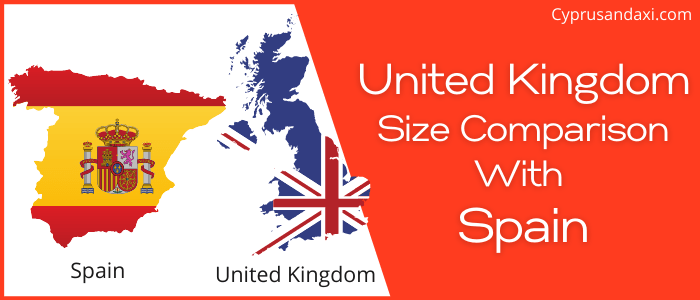 Is the UK bigger than Spain