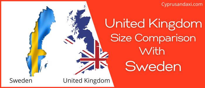 Is the UK bigger than Sweden