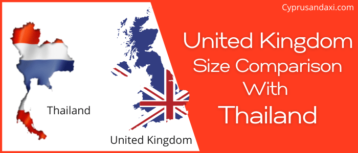 Is the UK bigger than Thailand
