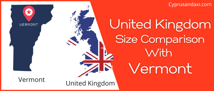 Is the UK bigger than Vermont