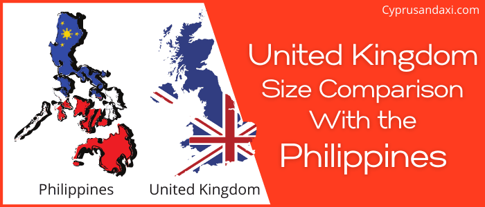 Is the UK bigger than the Philippines