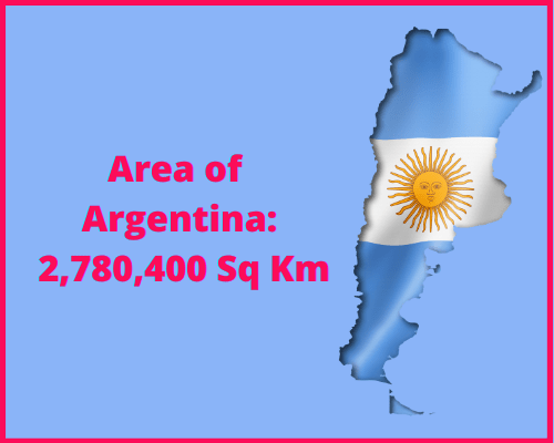 Area of Argentina compared to Spain