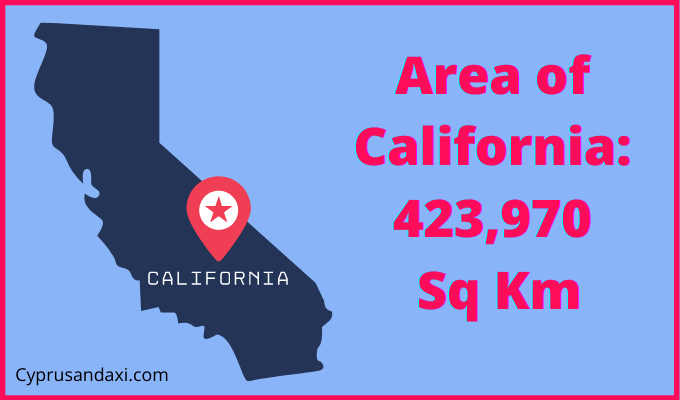 Area of California compared to France