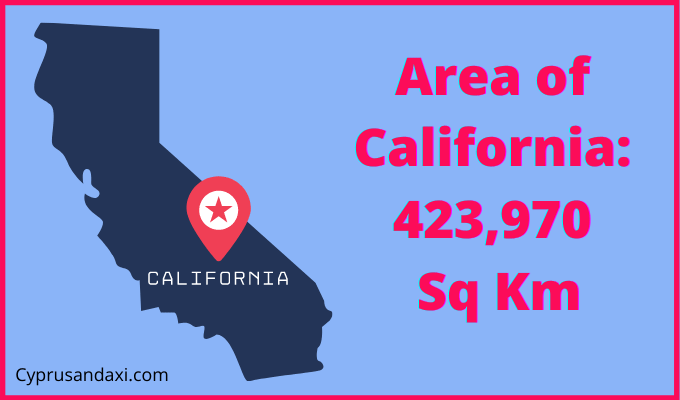 Area of California compared to Spain