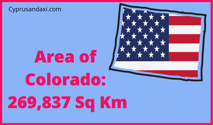 Area of Colorado compared to France