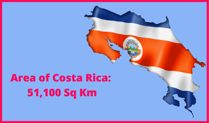 Area of Costa Rica compared to Spain