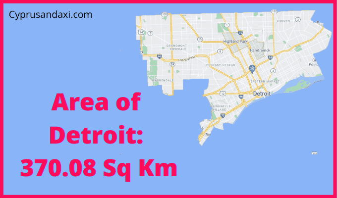 Area of Detroit compared to France