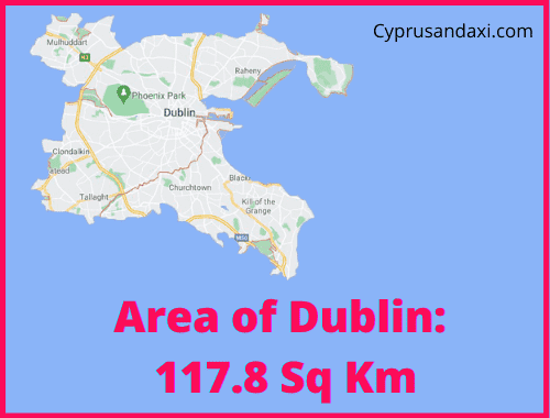 Area of Dublin compared to France