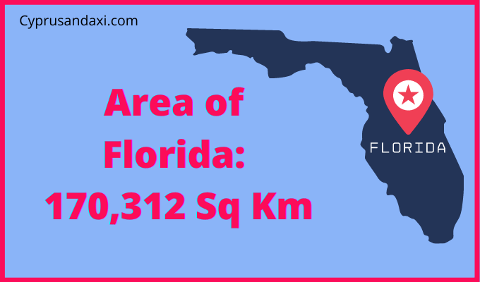 Area of Florida compared to Spain