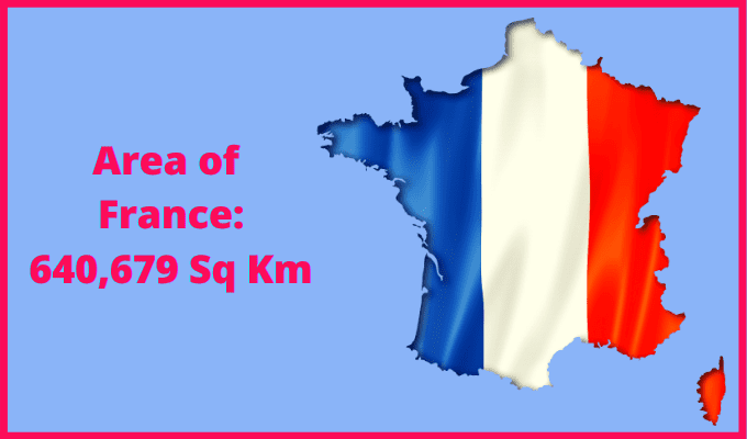 Area of France compared to Dublin