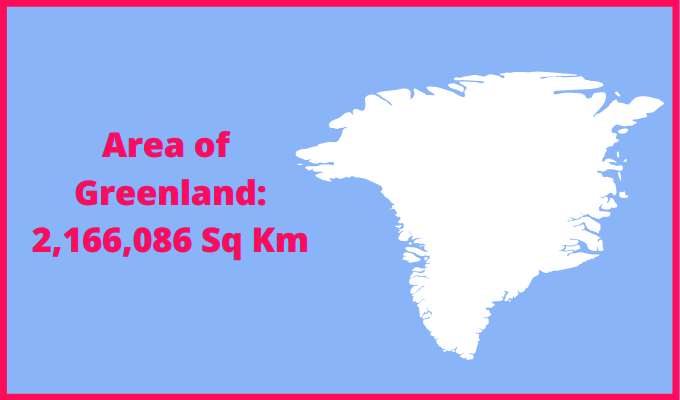 Area of Greenland compared to Spain