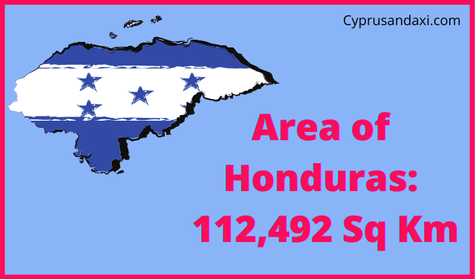 Area of Honduras compared to Spain
