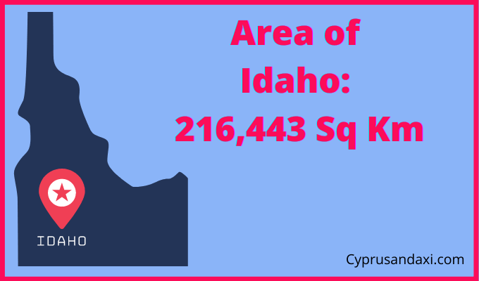 Area of Idaho compared to Spain