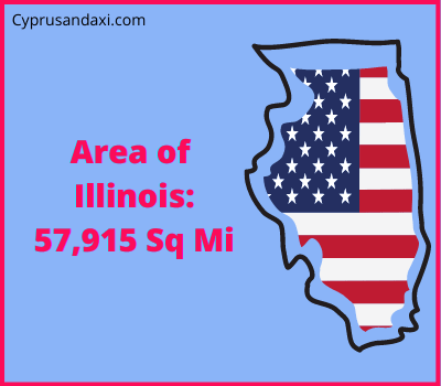 Area of Illinois compared to Spain