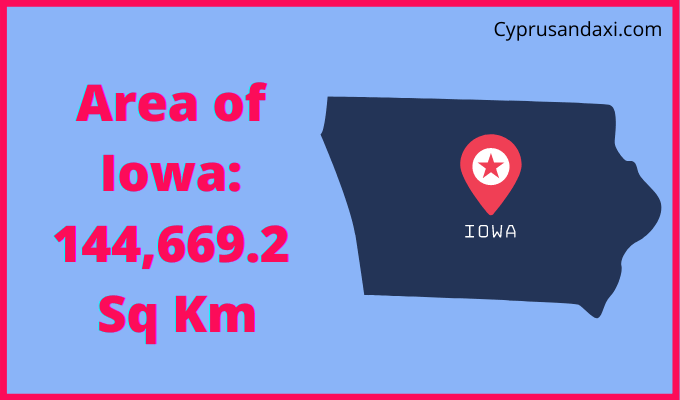 Area of Iowa compared to Spain