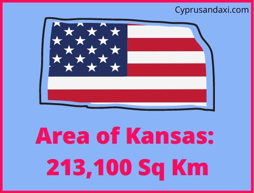 Area of Kansas compared to Spain
