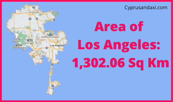 Area of Los Angeles compared to Majorca