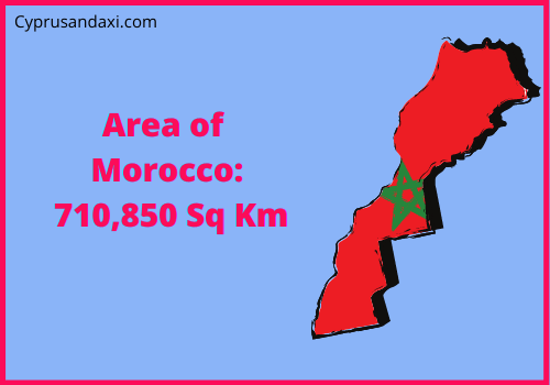 Area of Morocco compared to Spain