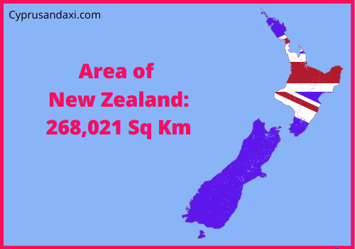 Area of New Zealand compared to Spain