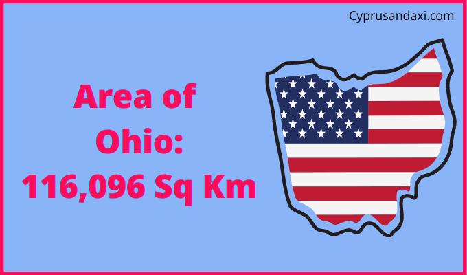 Area of Ohio compared to Spain