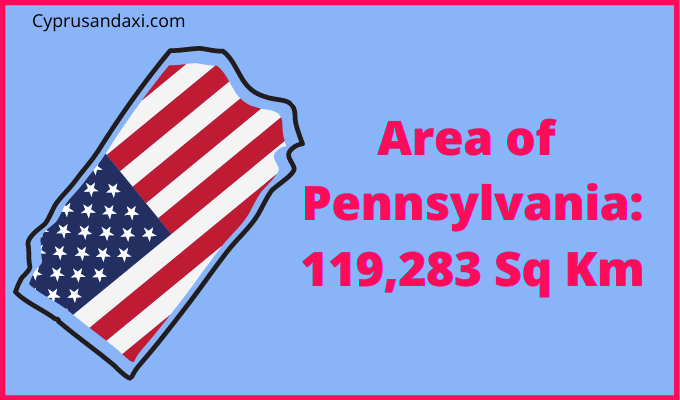 Area of Pennsylvania compared to Spain