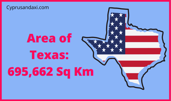 Area of Texas compared to Spain