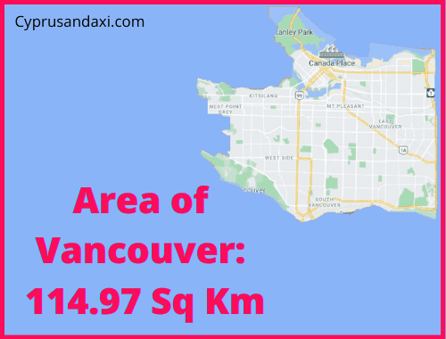 Area of Vancouver compared to Spain