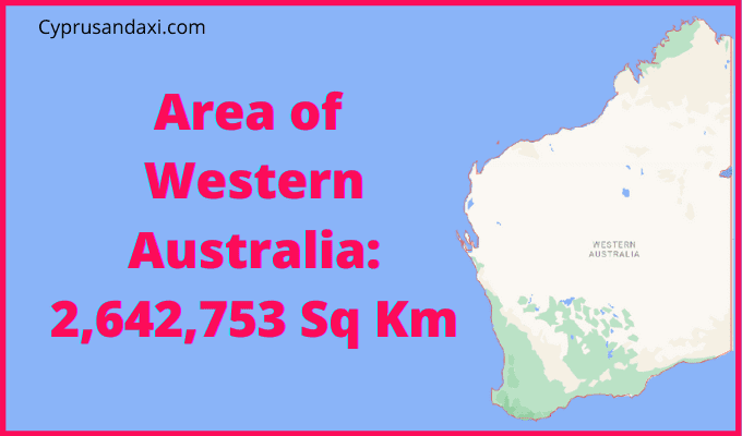 Area of Western Australia compared to Spain