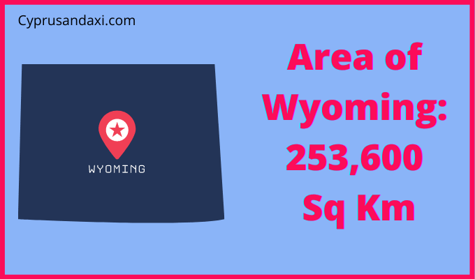 Area of Wyoming compared to Spain