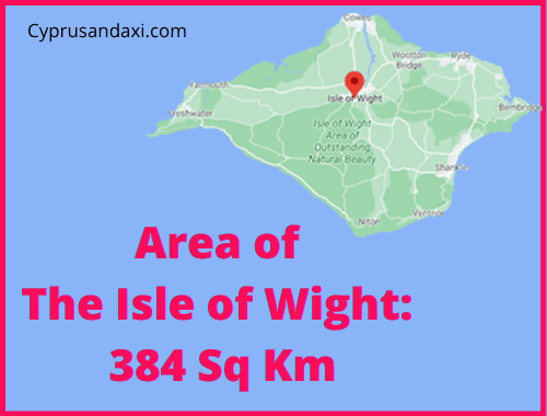 Area of the Isle of Wight compared to Majorca