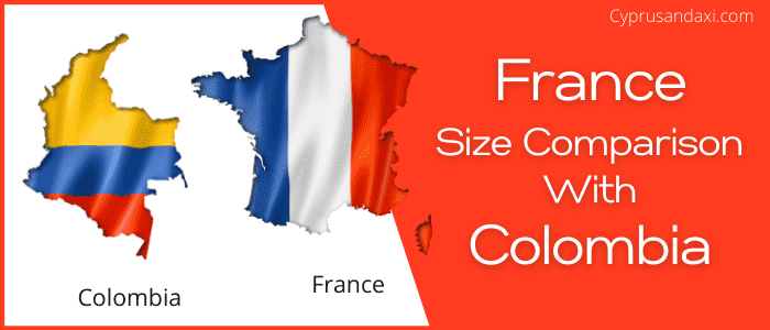 Is France bigger than Colombia