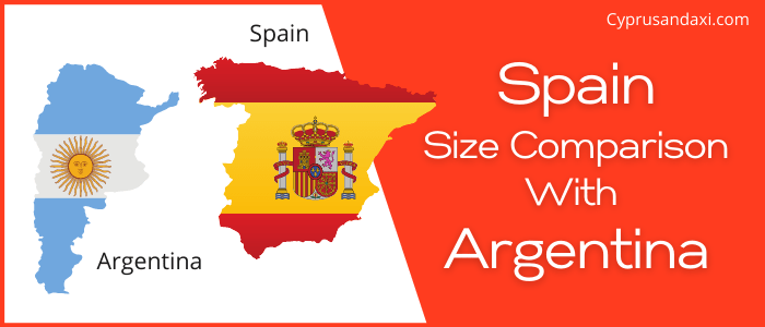 Is Spain bigger than Argentina