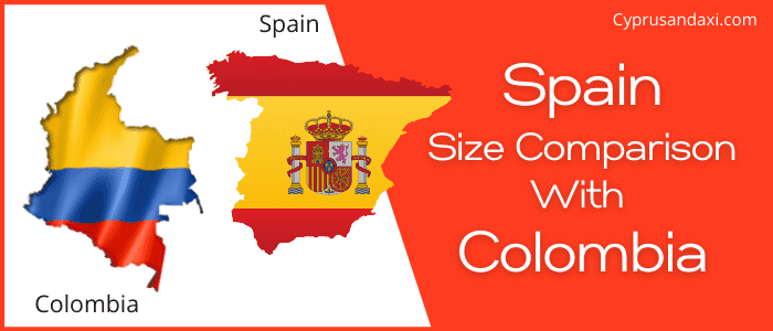 Is Spain bigger than Colombia